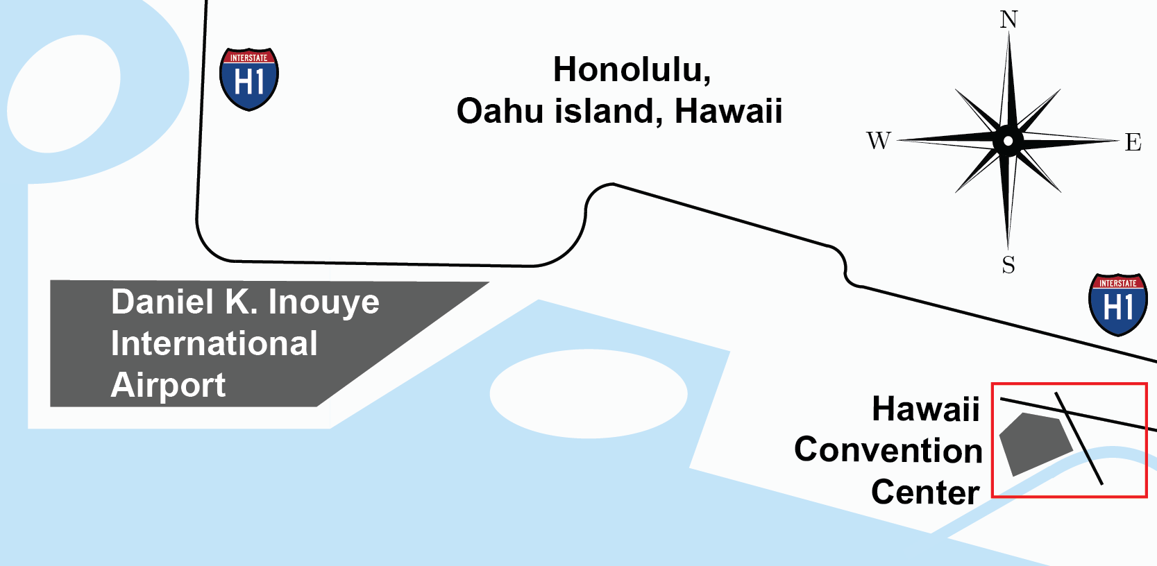 Honolulu Local Area Map