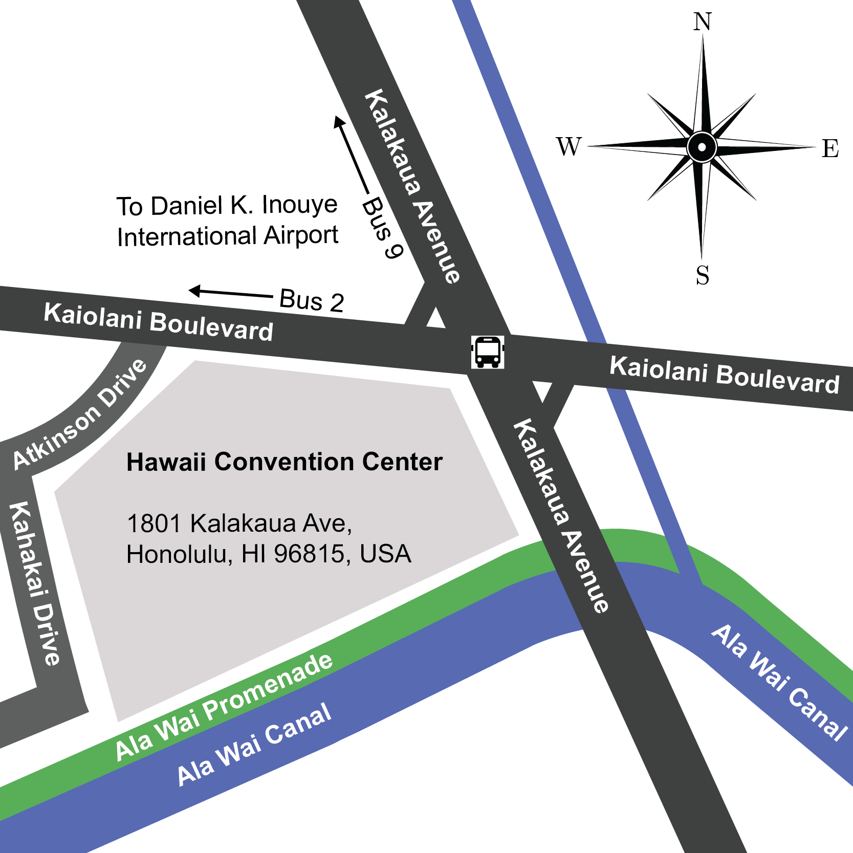 Hawaii Convention Center Map